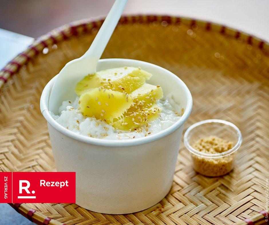 Sticky Rice mit Mango - Rezept Bild