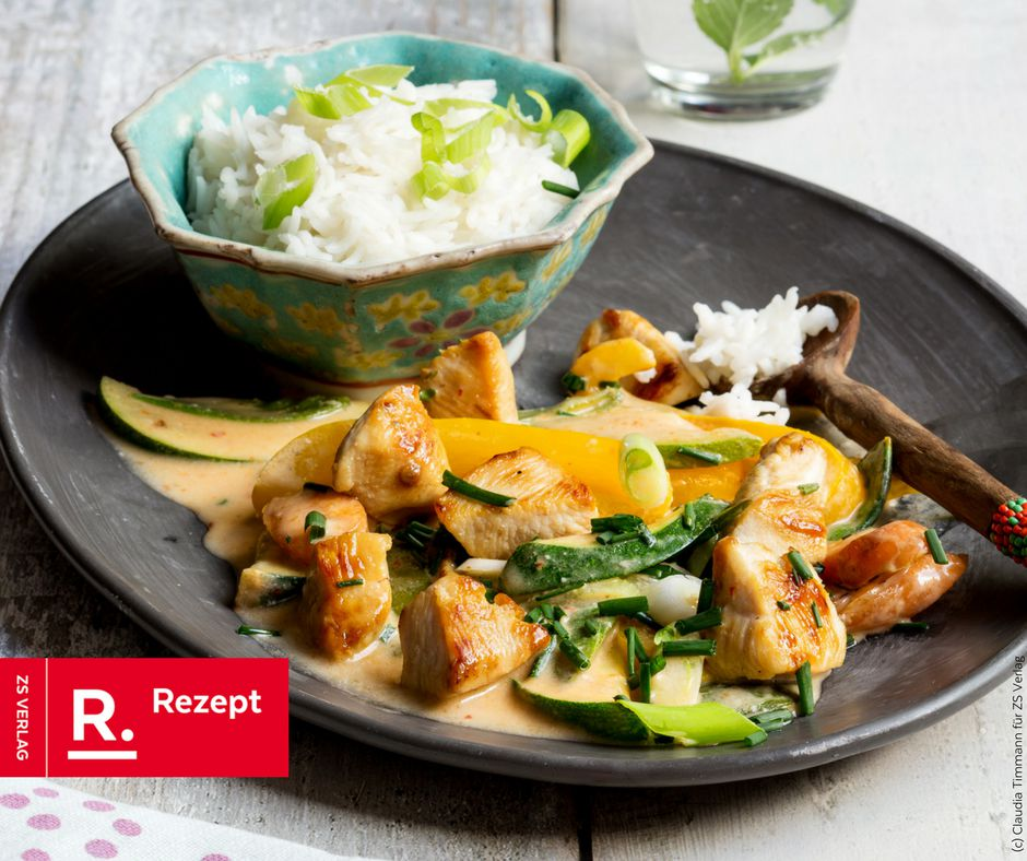 Hähnchen-Thaicurry mit Basmatireis - Rezept Bild