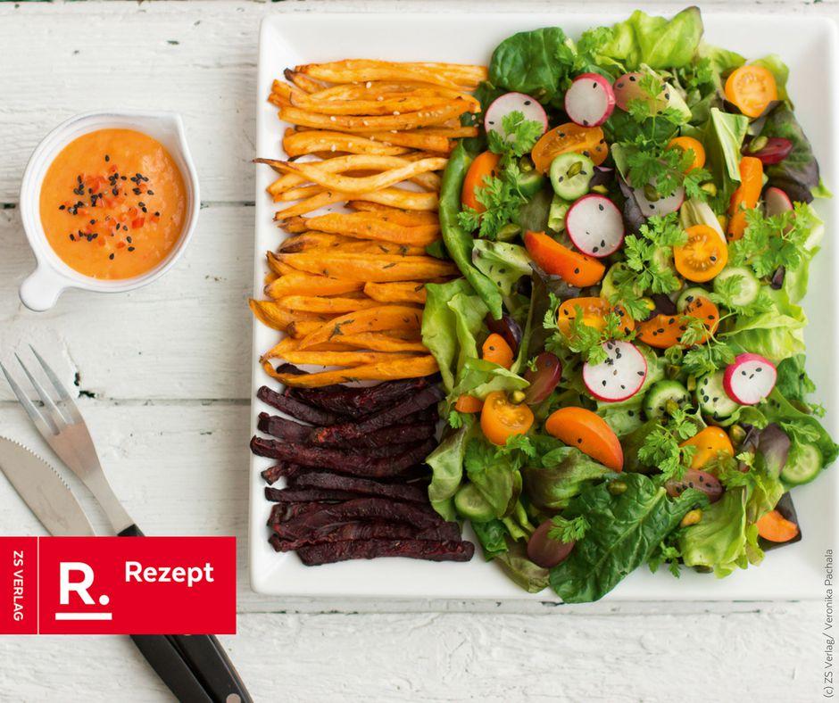 Gemüse-Pommes-Dreierlei - Rezept Bild