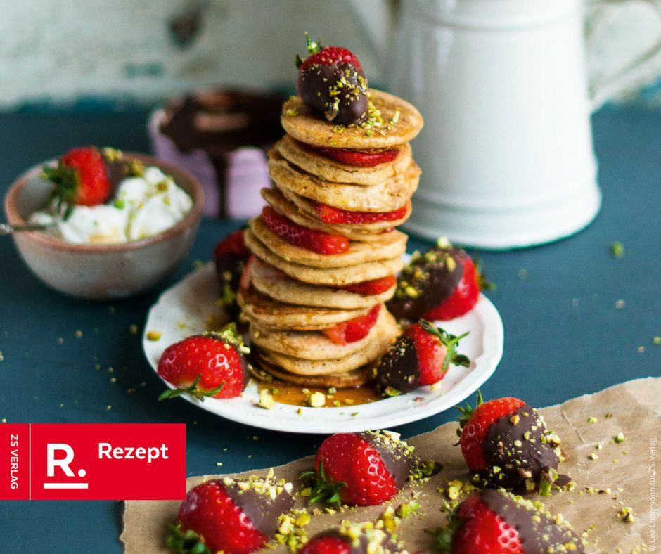 Dinkel-Hafer-Pfannkuchen - Rezept Bild