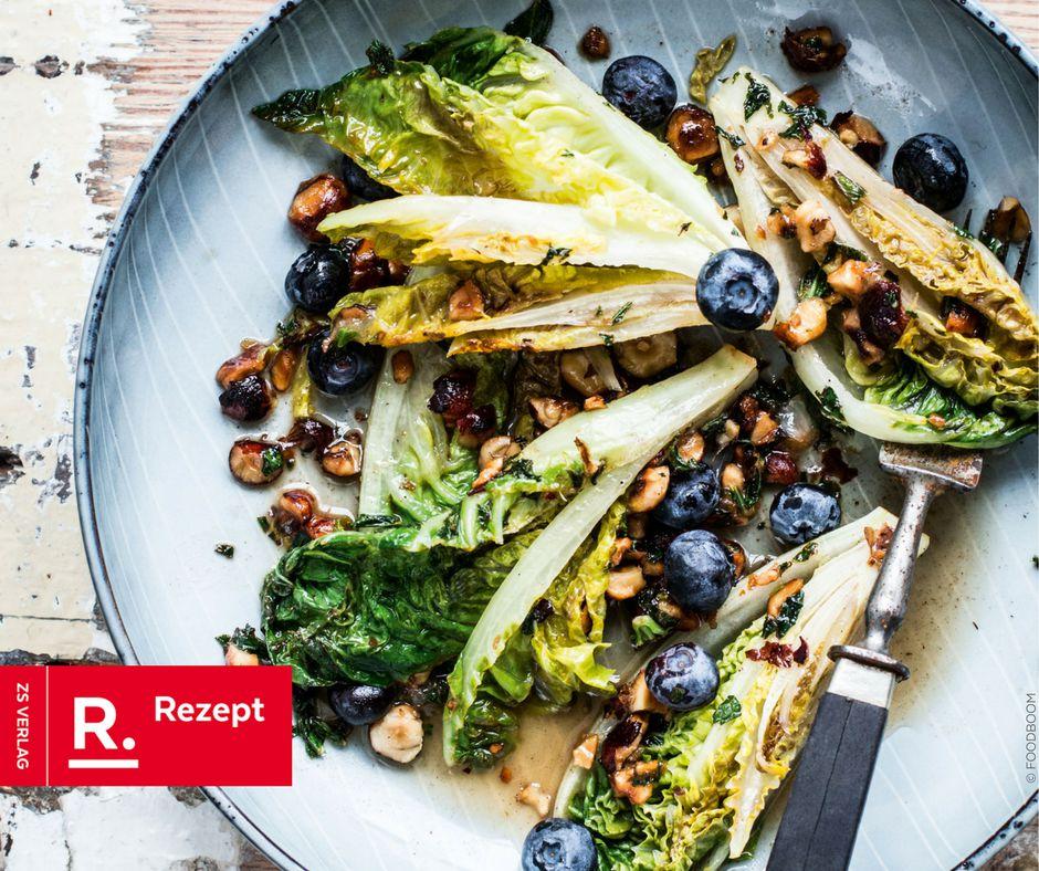 Salat mit karamellisierter Zitrone - Rezept Bild