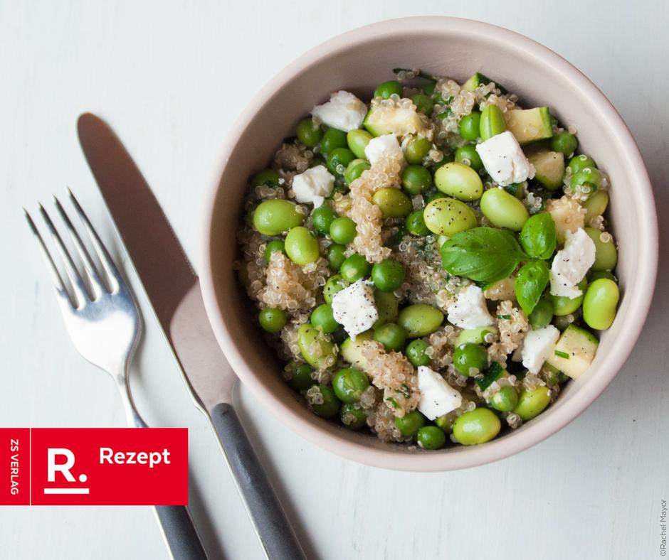 Grüne Quinoa-Bowl mit Feta - Rezept Bild