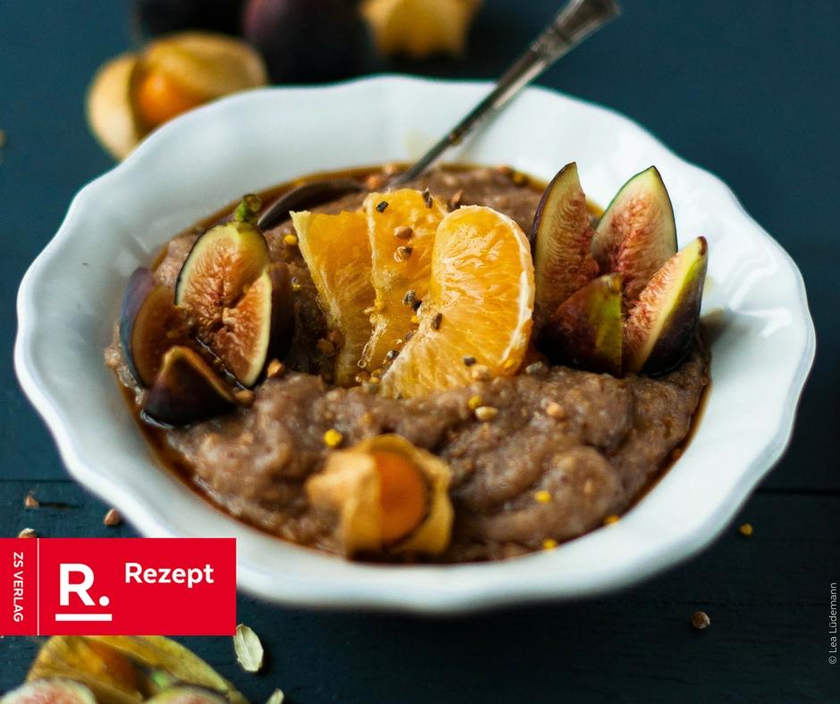 Porridge glutenfrei mit Früchten - Rezept Bild