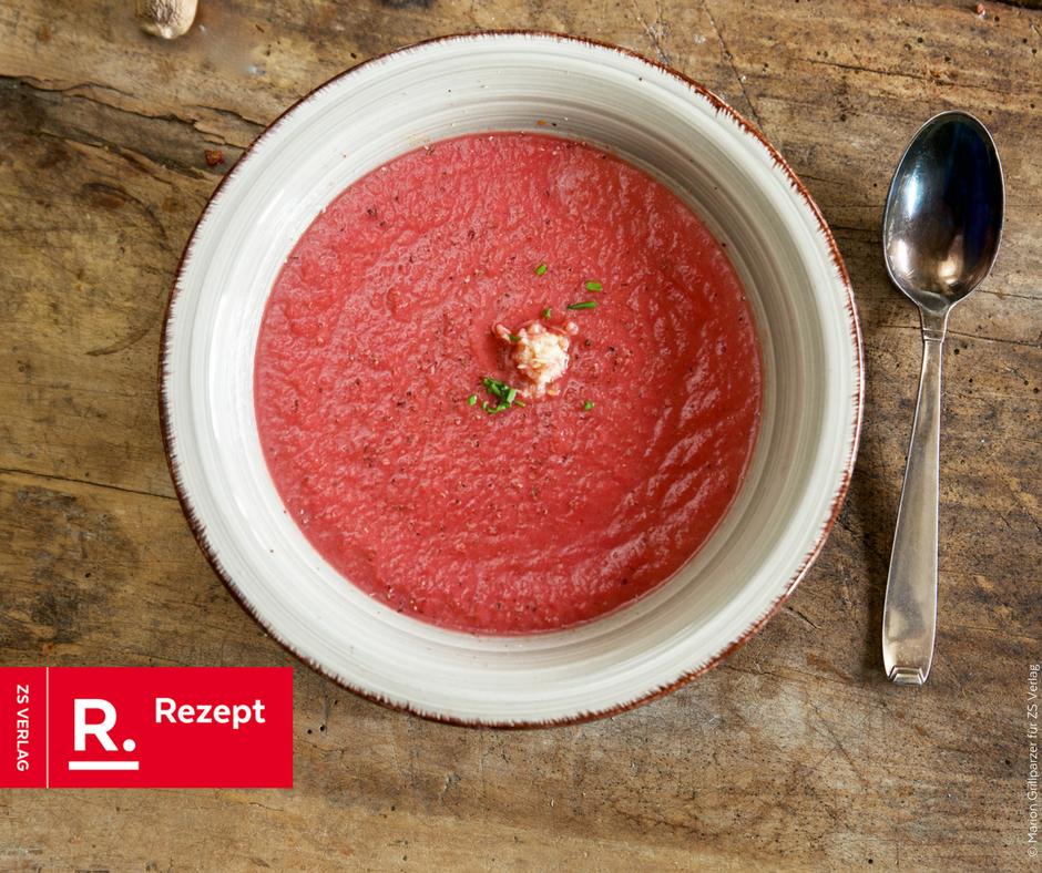 Rote-Bete-Suppe mit Meerrettich - Rezept Bild
