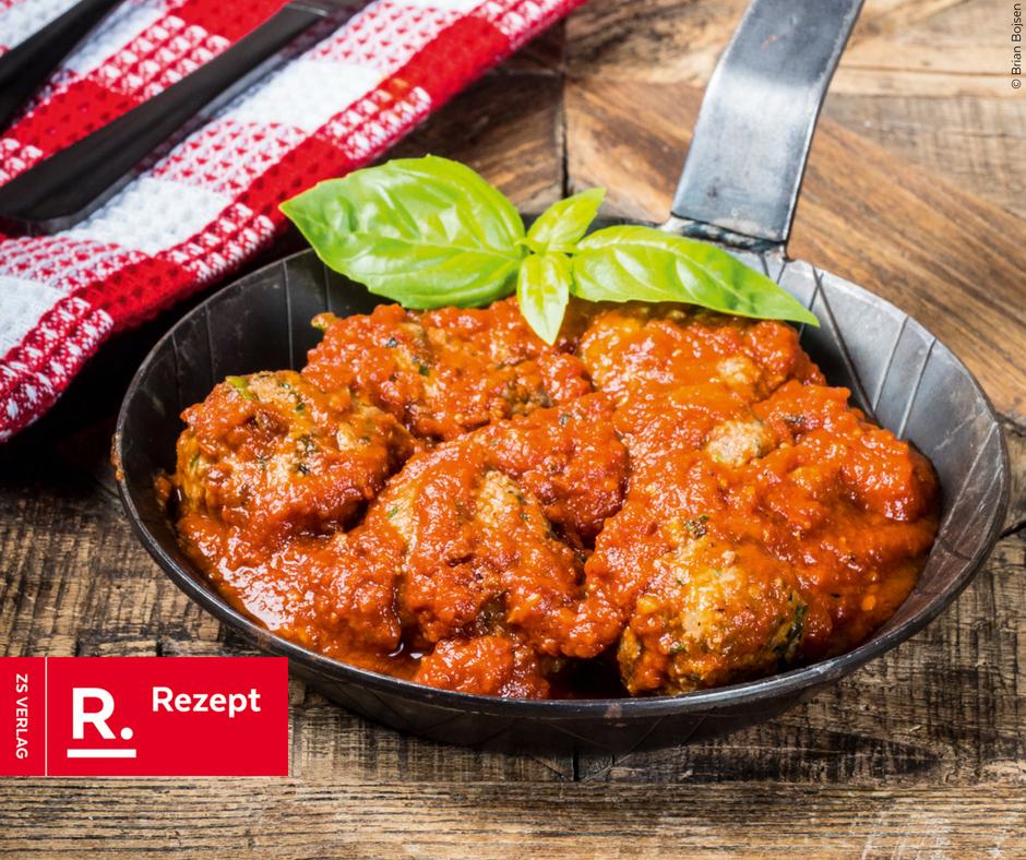 Meatballs in Tomatensauce - Rezept Bild