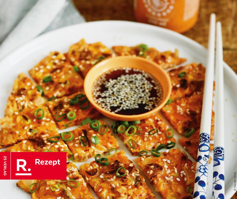 Kimchi Pancakes Rezept von Nicole Stich - Rezept Bild