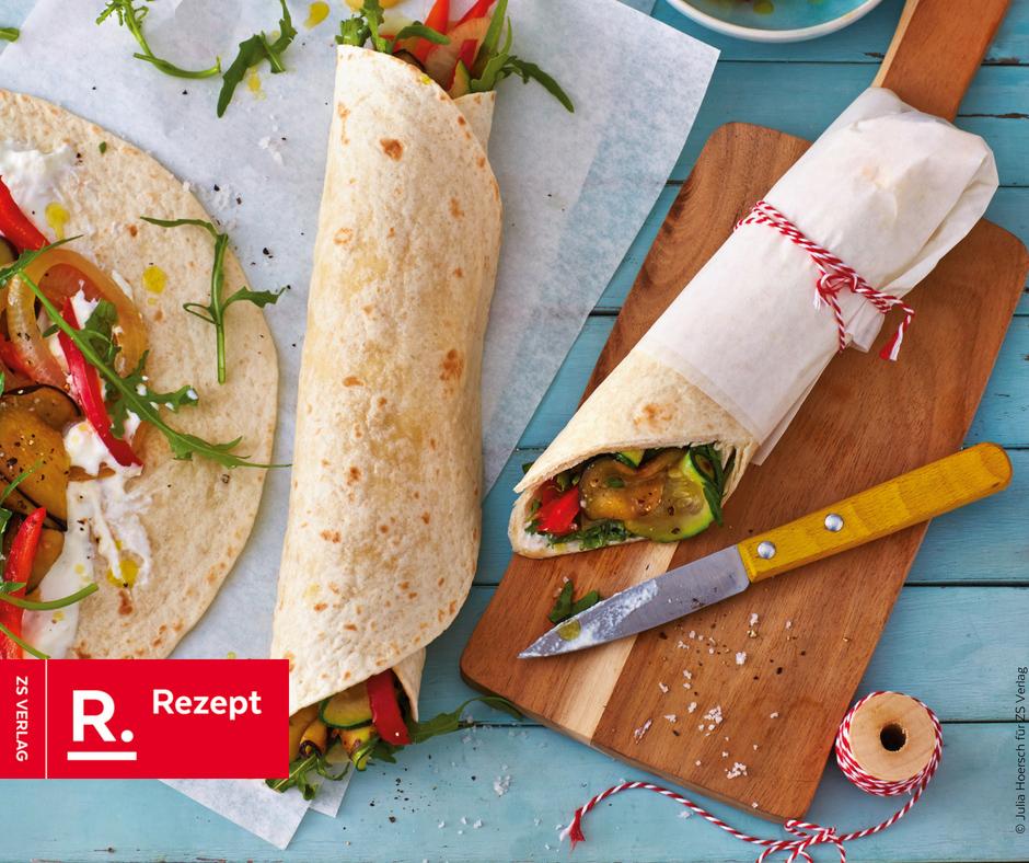 Gemüse Wraps für die Pausenbox - Rezept Bild