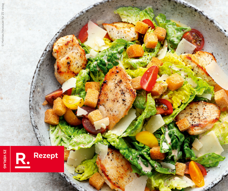 Caesar Salat Rezept von Alfons Schuhbeck - Rezept Bild