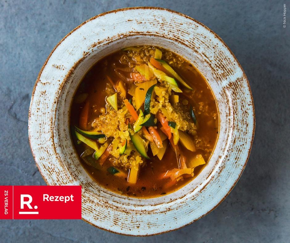 Ayurvedische Minestrone mit Quinoa von Jasmine Hemsley - Rezept Bild