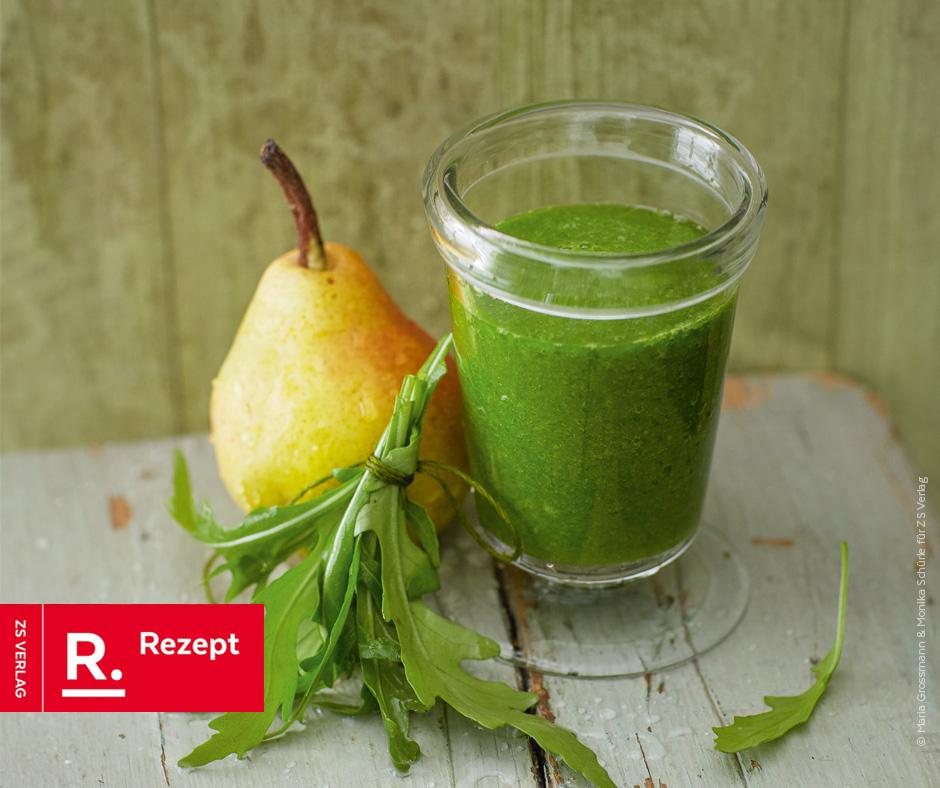 Grüner Smoothie mit Birne - Rezept Bild
