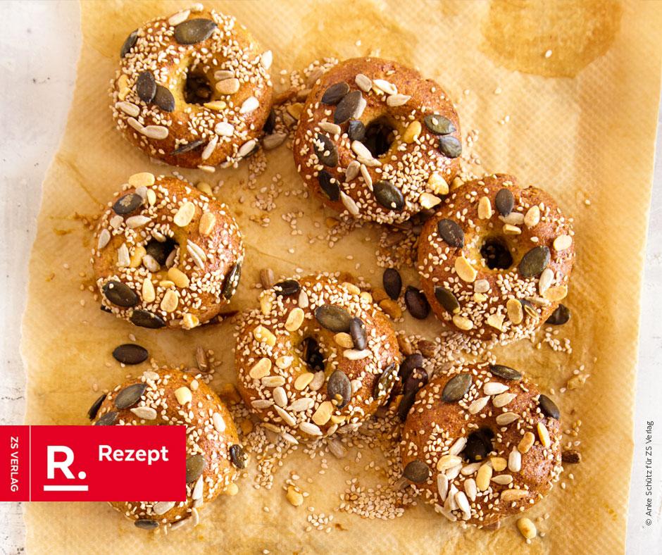Bagels mit Mandeln - Rezept Bild