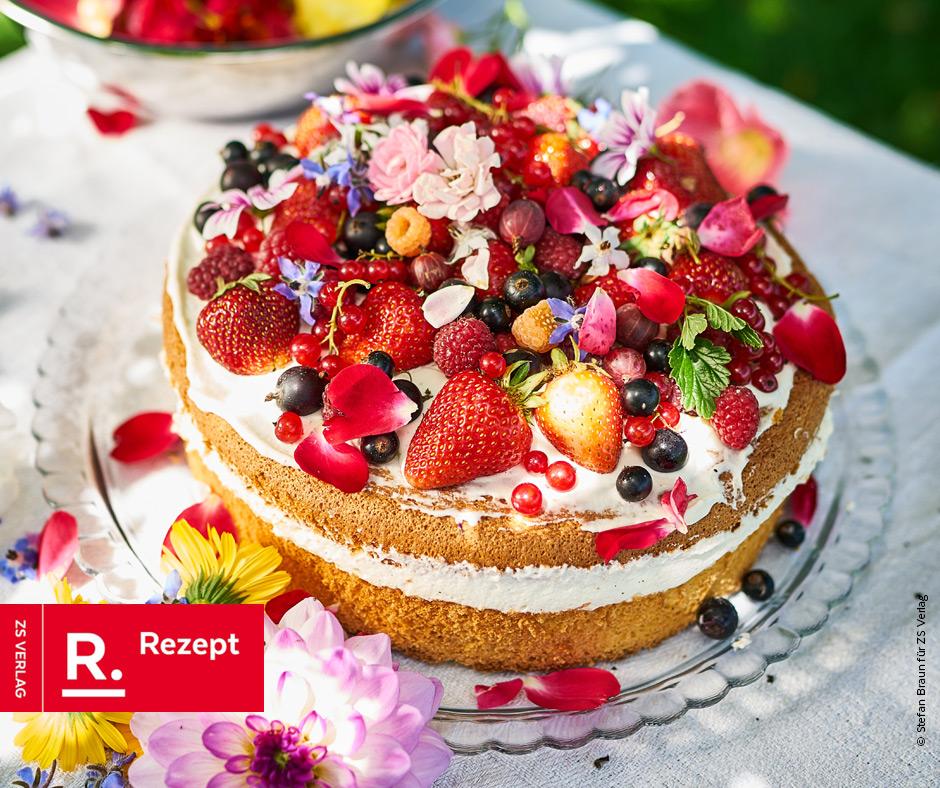 Schneller Erdbeerkuchen mit Vanillesahne - Rezept Bild