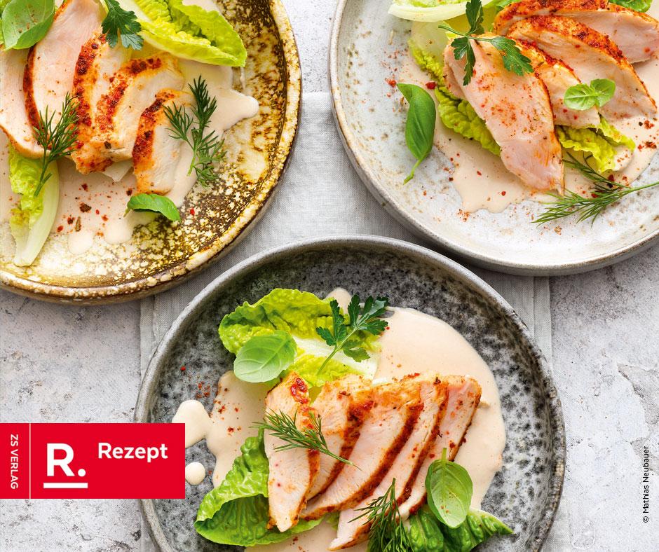 Hähnchen mit Thunfischsauce - Rezept Bild