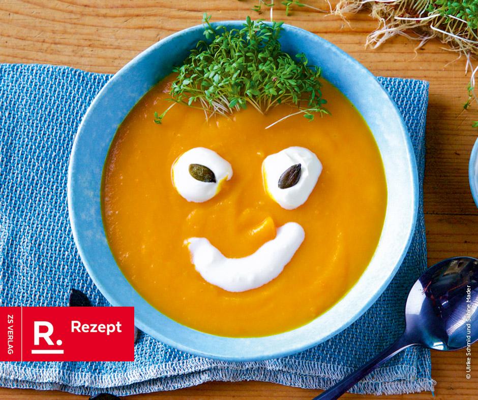 Halloween-Suppe mit Kürbis und Lauch - Rezept Bild