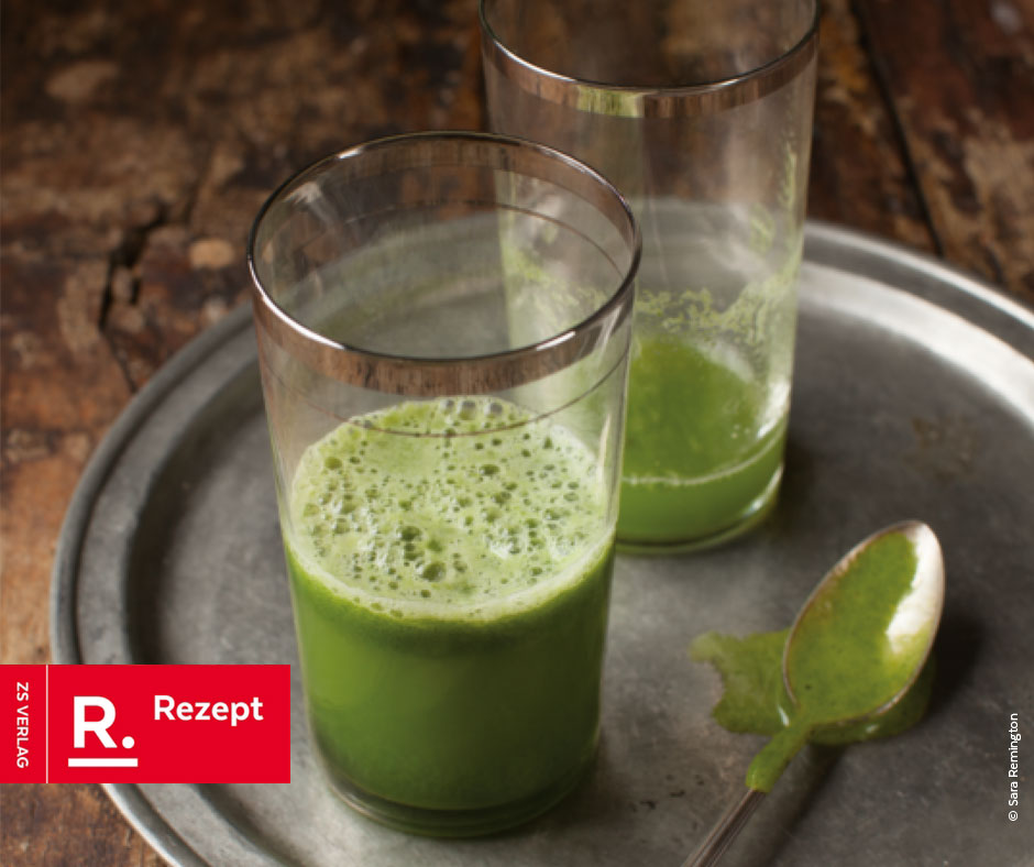 Grüner Saft mit Kohl - Rezept Bild