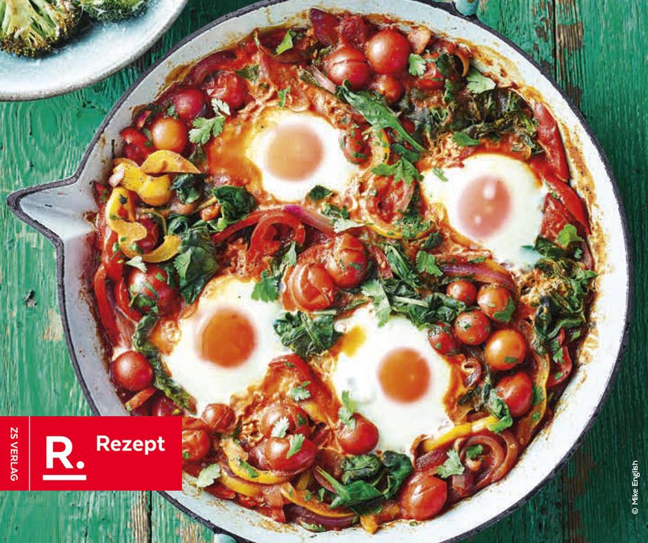 Schnelle Mahlzeit für jeden Tag… Shakshuka - Rezept Bild