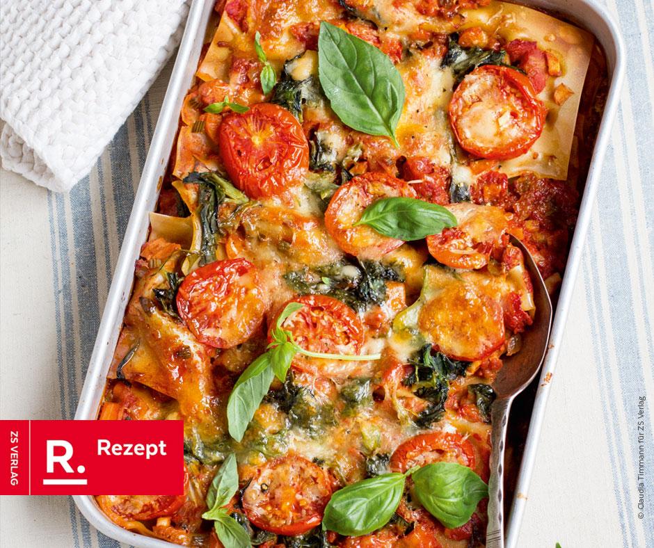 Spinat-Tomaten-Lasagne - Rezept Bild