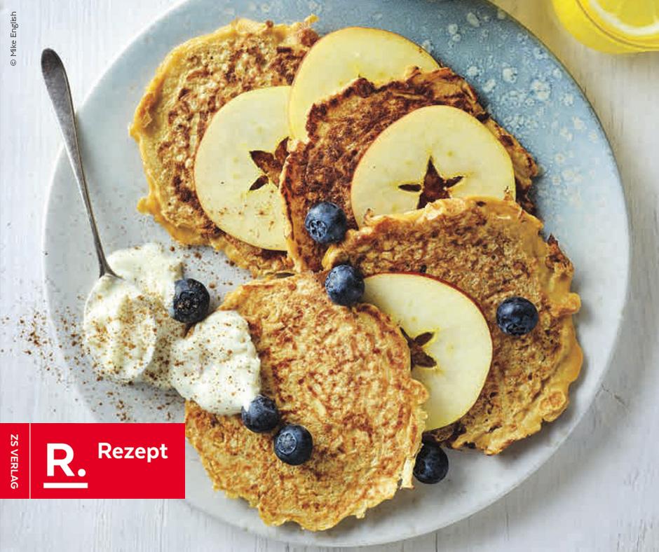 Einmal die Woche… Apfel-Zimt-Pancakes - Rezept Bild