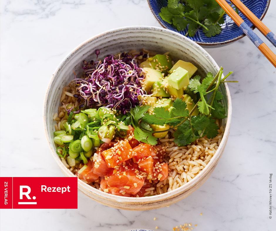 Poke Bowl mit Sushi-Lachs - Rezept Bild
