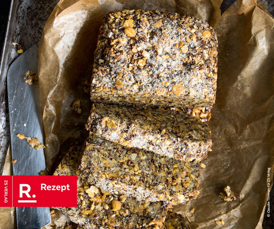 Saaten-Nuss-Brot - Rezept Bild