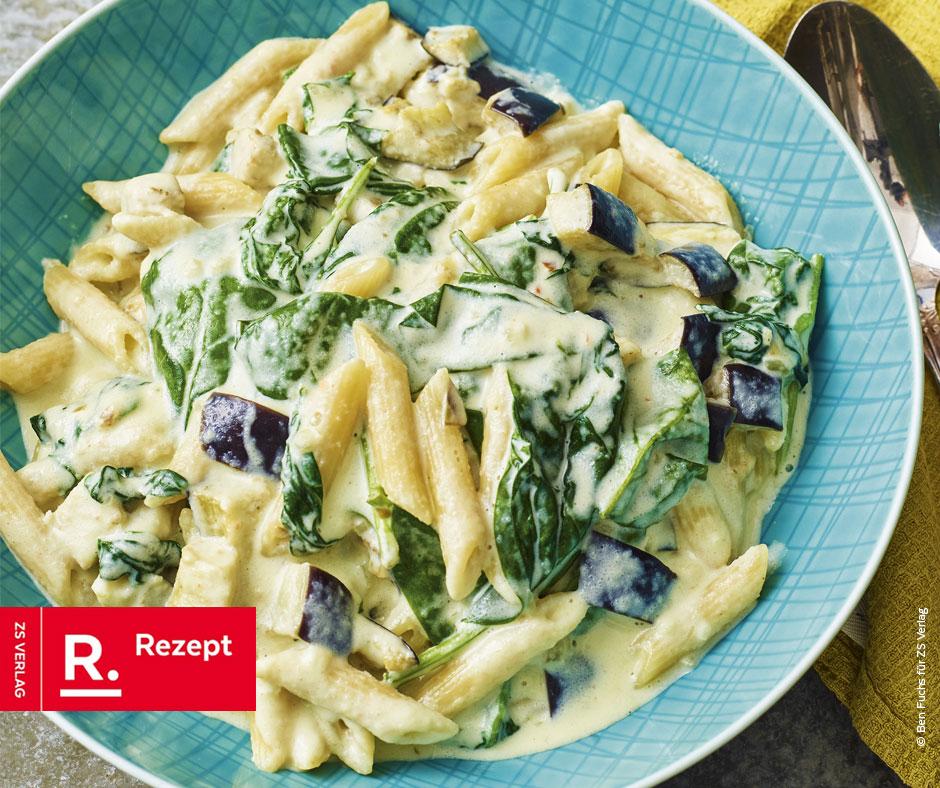 Vegan Creamy Pasta - Rezept Bild