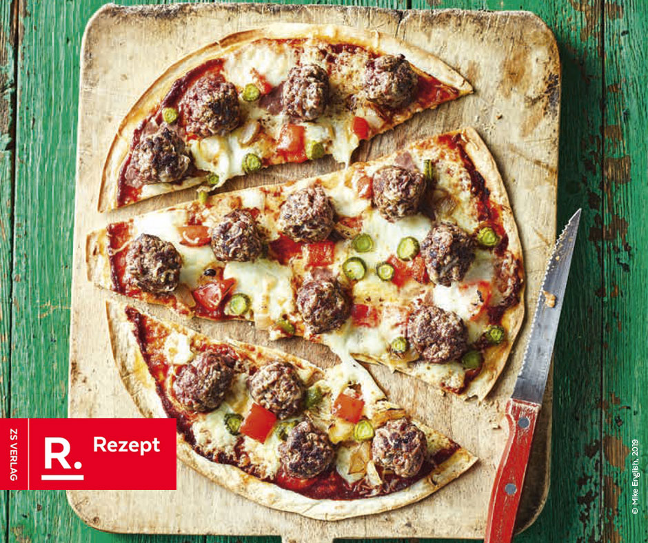 Cheeseburger-Pizza - Rezept Bild