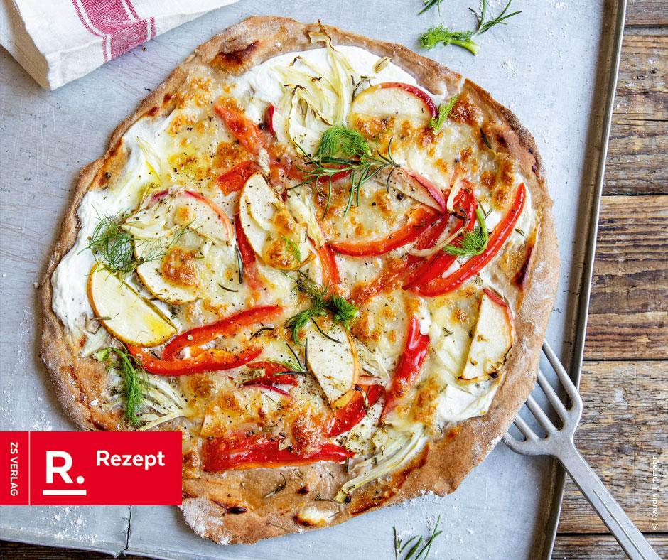 Fenchel-Paprika-Pizza - Rezept Bild
