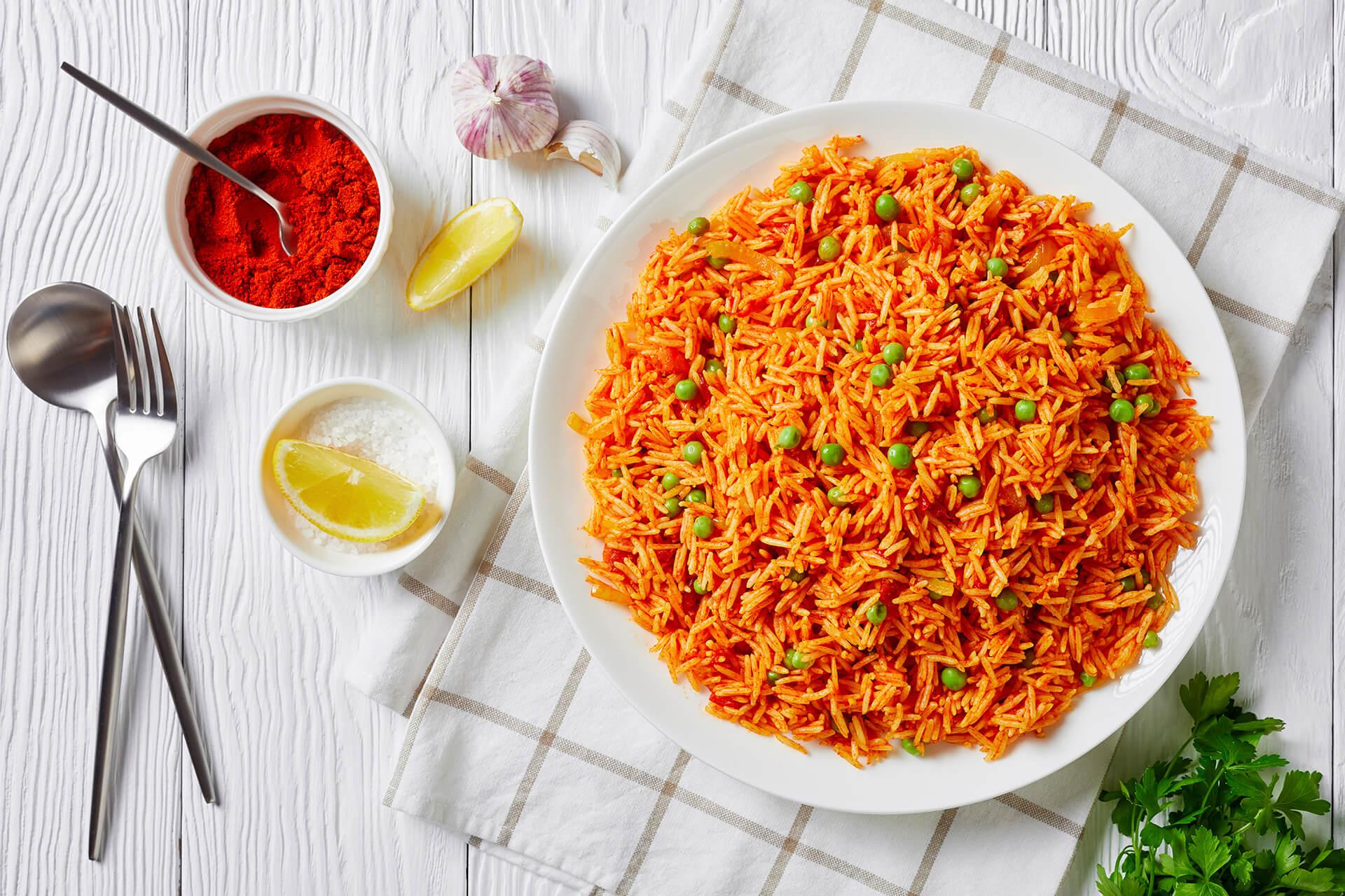 Abendessen: Tomatenreis mit Feta - Rezept Bild