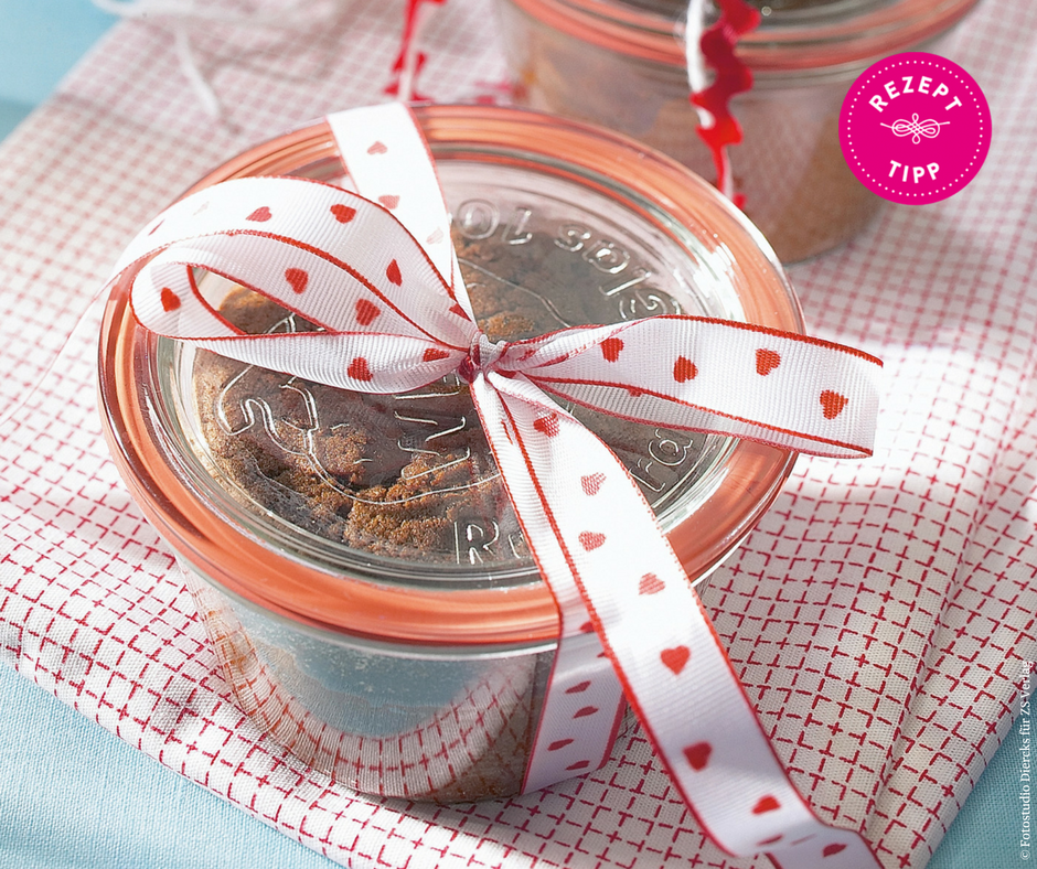Schokoladenkuchen im Glas - Rezept Bild