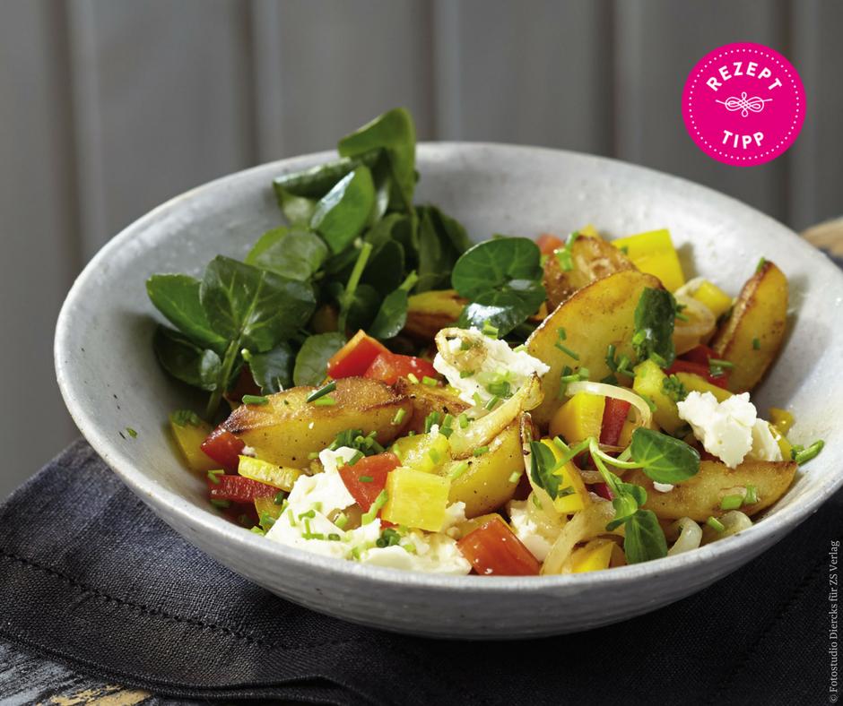Röstkartoffel-Paprika-Salat - Rezept Bild