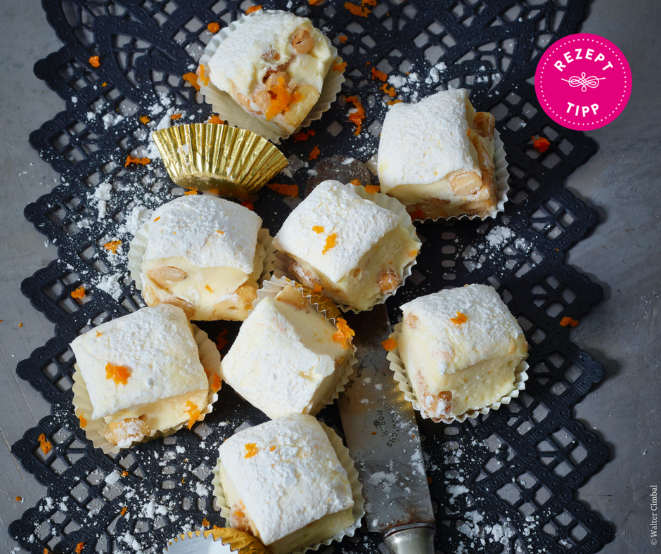 Orangen-Cashew-Marshmallows - Rezept Bild