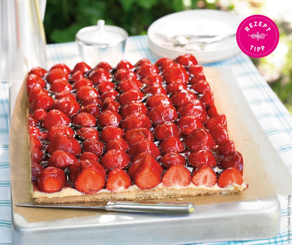 Erdbeer-Vanillecreme-Kuchen - Rezept Bild