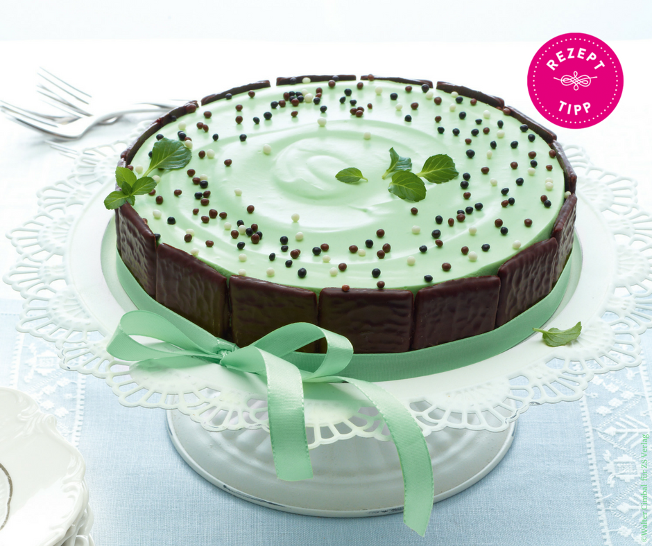 Pfefferminz-Cheesecake - Rezept Bild