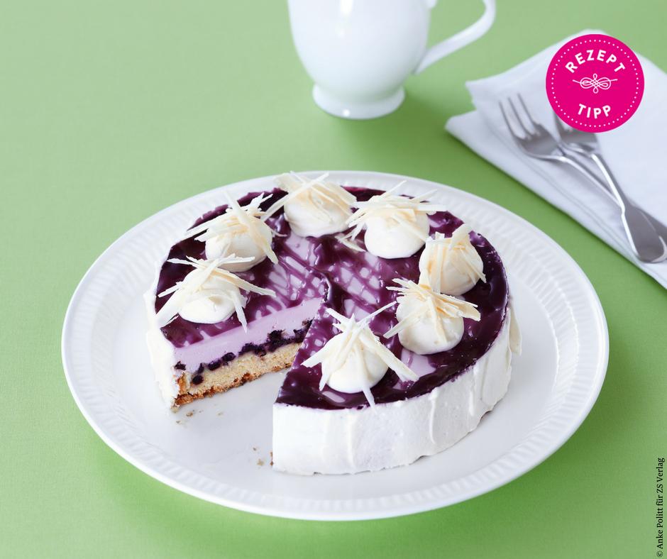 Lila Heidelbeer-Torte - Rezept Bild