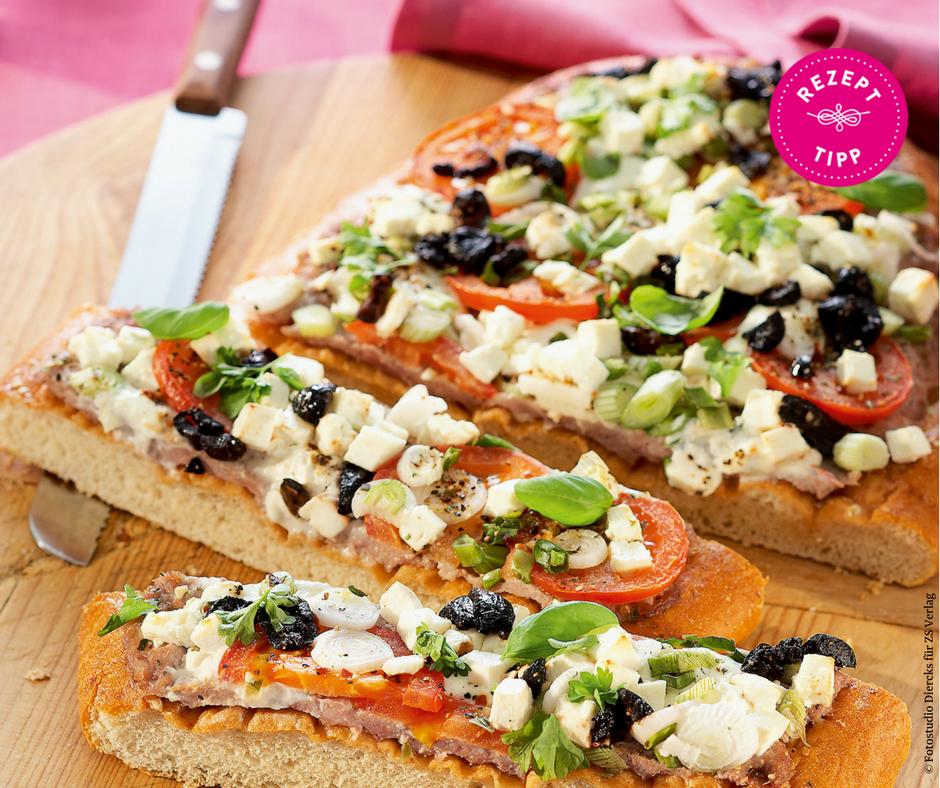 Fladenbrot-Pizza - Rezept Bild