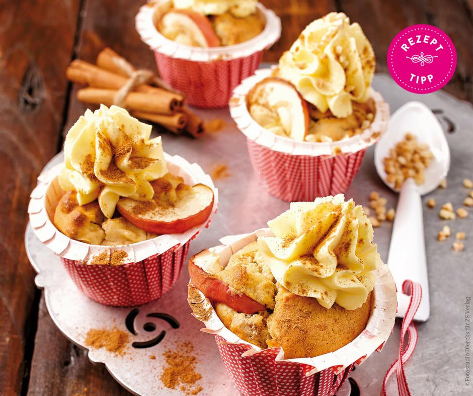 Bratapfel-Cupcakes - Rezept Bild