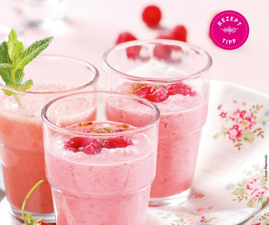 Erdbeer Himbeer Smoothie Rezept - Rezept Bild