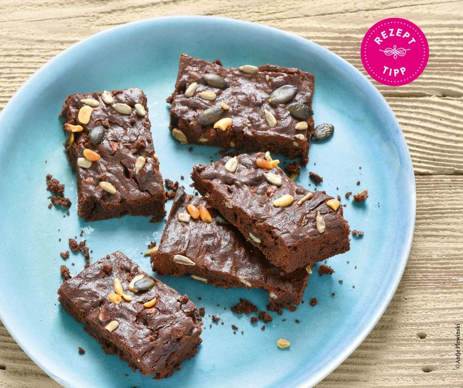 Low Carb Brownies mit Erdnüssen Rezept - Rezept Bild