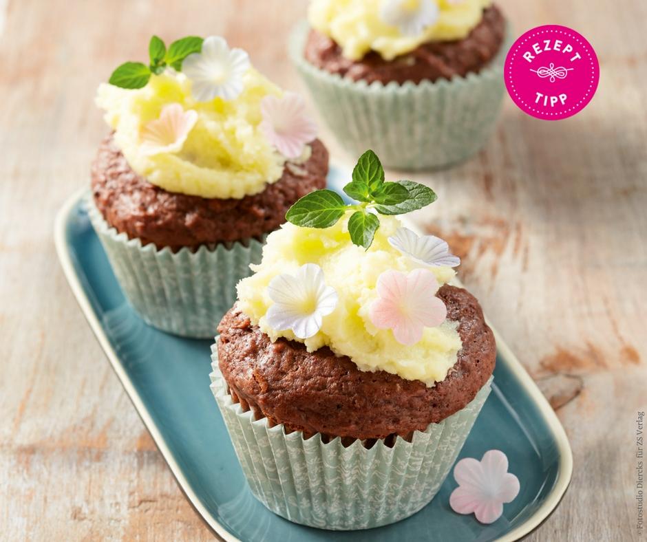 Apfel-Schoko-Cupcakes - Rezept Bild