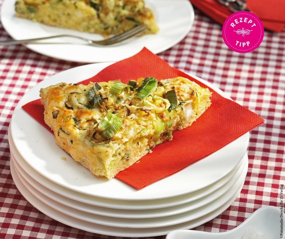 Zucchini-Lauch-Tarte - Rezept Bild