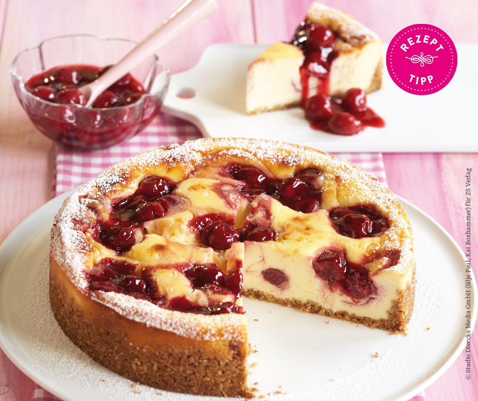 Cherry-Cheesecake - Rezept Bild
