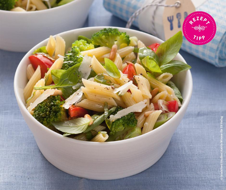 Nudelsalat mit Brokkoli - Rezept Bild