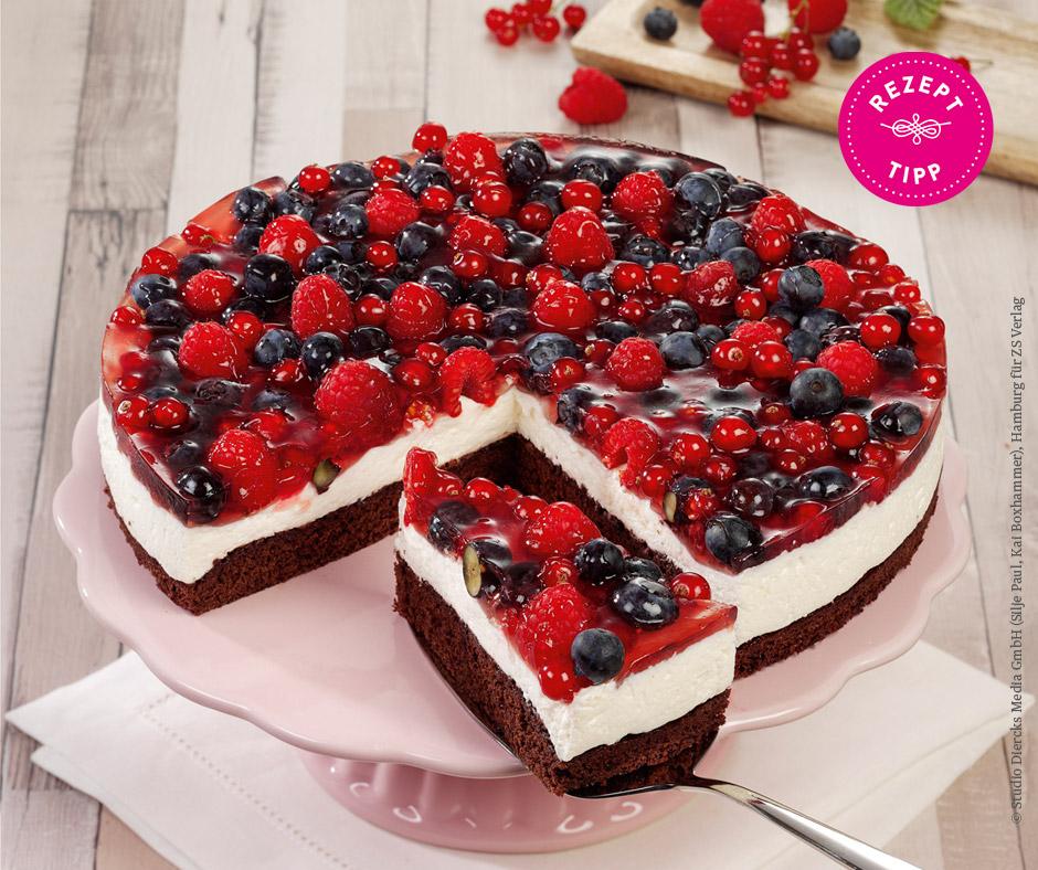 Beeren-Sauerrahm-Kuchen - Rezept Bild