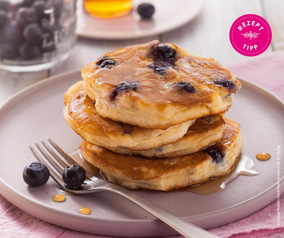 Heidelbeer-Ricotta-Pancakes - Rezept Bild