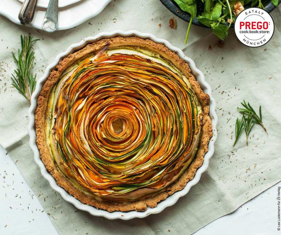 Möhren-Zucchini-Tarte - Rezept Bild