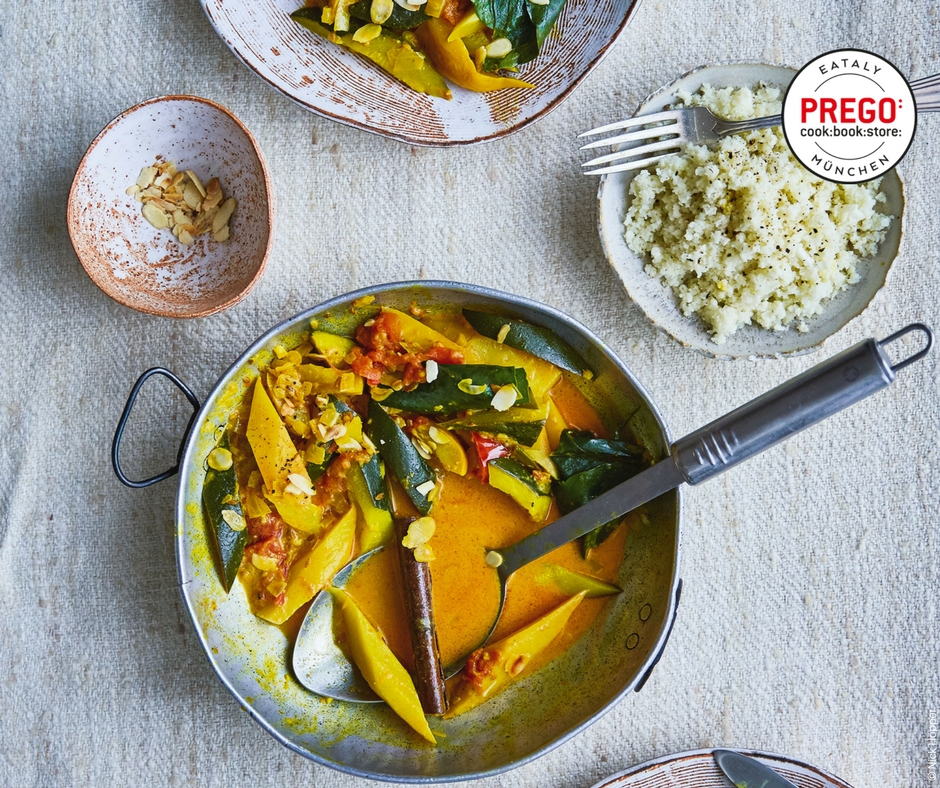 Gemüsecurry mit Blumenkohl-Reis - Rezept Bild