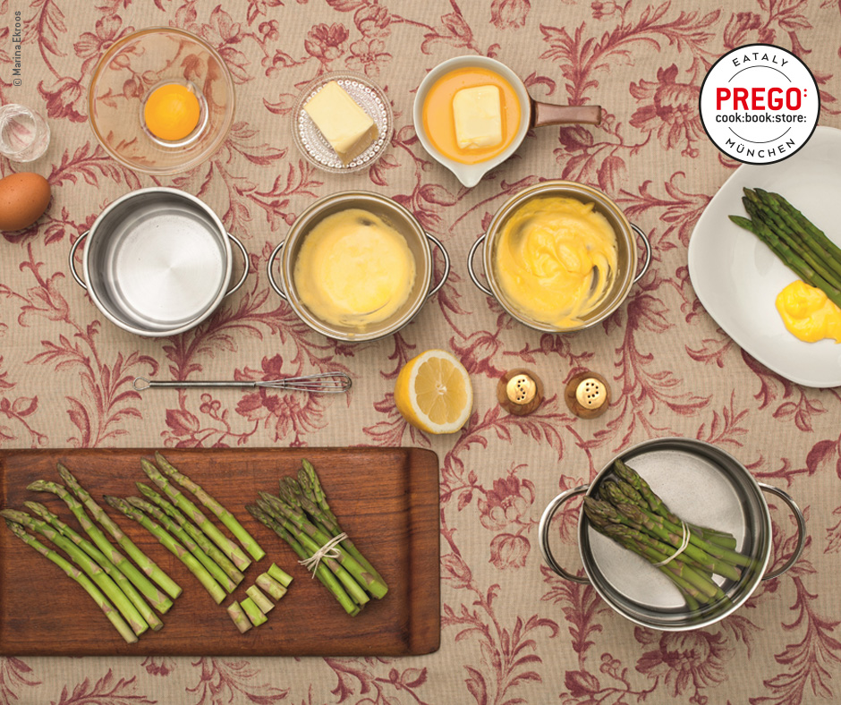 Spargel mit Sauce Hollandaise - Rezept Bild