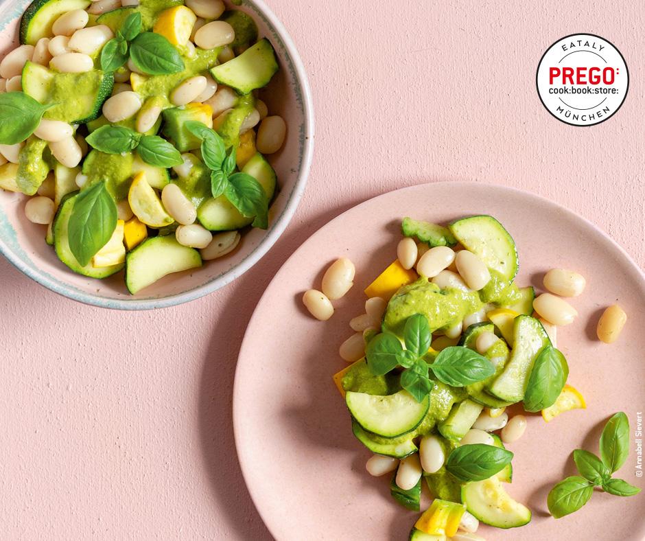 Bohnen-Zucchini-Salat - Rezept Bild